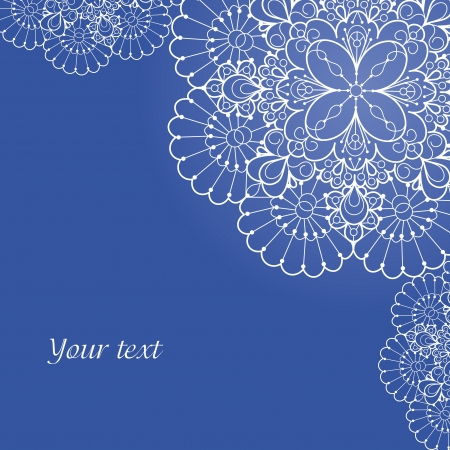 intricate: Background with lace ornament and space for your text  Template frame design for card