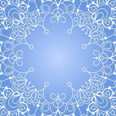 Background with lace ornament and space for your text  Template frame design for card  Vector