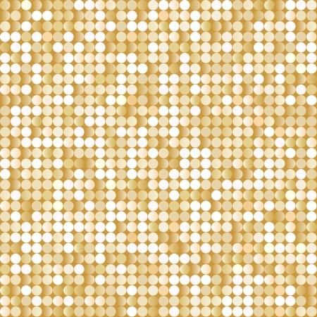 spangles: Seamless background with shiny golden paillettes Illustration