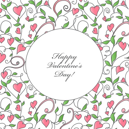 Background with hearts ornament  Template design for card Vector