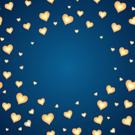 Background with hearts and space for your text  Template for card Vector