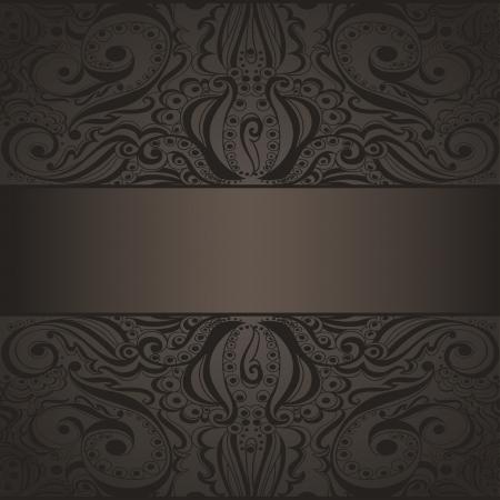 Elegant vintage background  Template design for card Vector