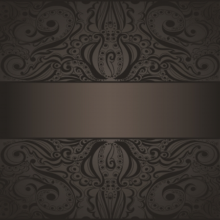 rich black wallpaper: Elegant vintage background  Template design for card