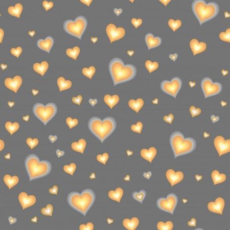 sky lantern: La bande dessin�e contre coeurs motif gris Seamless Illustration