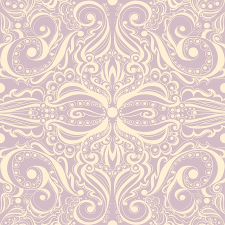 Elegant vintage background  Seamless pattern  Vector