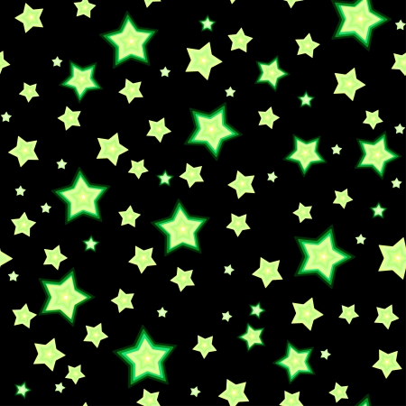 Cartoon fluorescent stars against dark background  Seamless pattern Stock Vector - 18413810