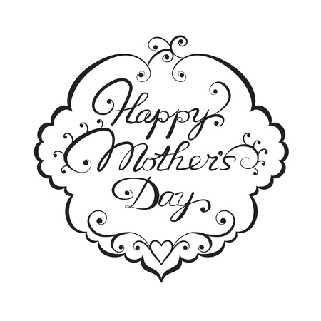 mothers day background: Giorno Ornato lettering Felice madre s Vettoriali