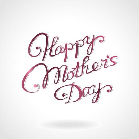 """dzień matki: Szczęśliwa matka s dzieÅ"""" rysowane rÄ™cznie napis"""