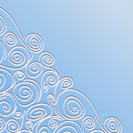 Lace background with spirals pattern  Template frame design for card, invitation  Vector