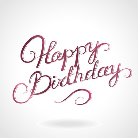 hand lettering: Happy birthday lettering Illustration