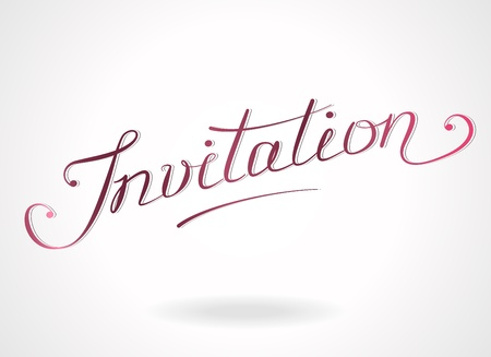 handlettering:  Invitation  hand-lettering  Template for invitations, greeting cards
