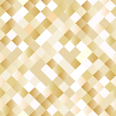 Seamless background with shiny golden squares Vector