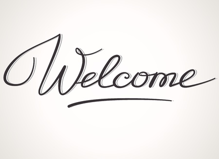 locution: Welcome handwritten lettering Illustration
