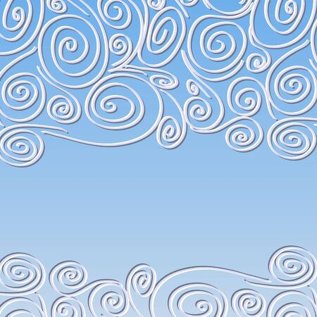 quilling: Lace background with spirals pattern  Template frame design for card, invitation