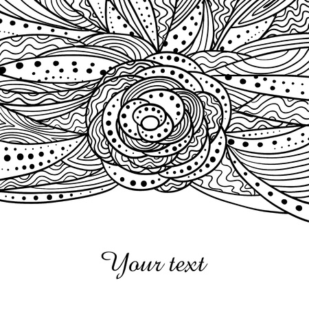 Card template with doddle pattern and space for your text Vector
