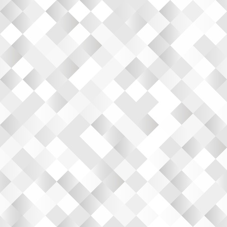 paillette: Seamless background with shiny silver squares Illustration