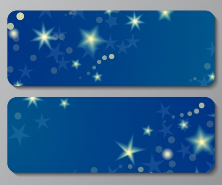 Banners with shiny stars and the night sky Stock Vector - 19601321