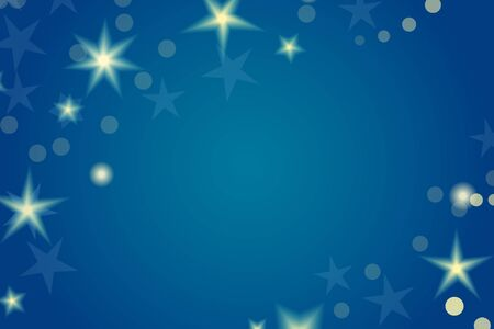 Card template with shiny stars and the night sky  Great holiday background  Eps10 vector illustration Stock Vector - 19601254
