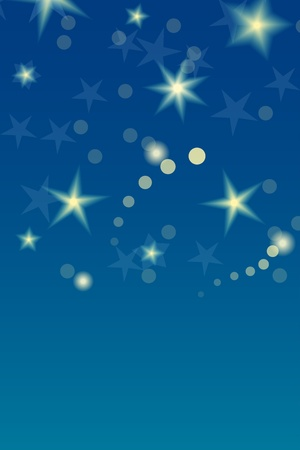 Card template with shiny stars and the night sky  Great holiday background Stock Vector - 19601289