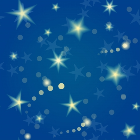 Seamless pattern with shiny stars and the night sky Great holiday background