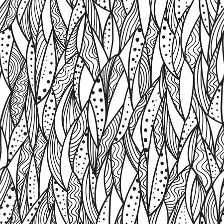 Abstract background with seamless monochrome pattern Vector