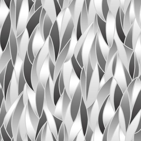 Abstract vertical background  Seamless black and white pattern Vector