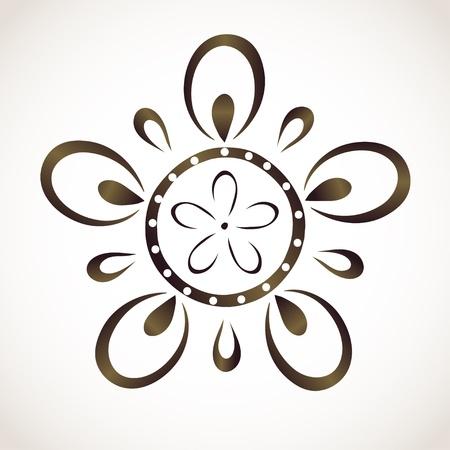 Monochrome flower pattern