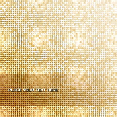 Seamless background with shiny golden pallettes Stock Vector - 19881984
