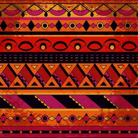 Grunge tribal pattern. Eps10 vector illustration Illustration
