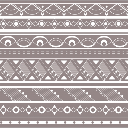 african grey: Seamless ethnic background. Tribal pattern