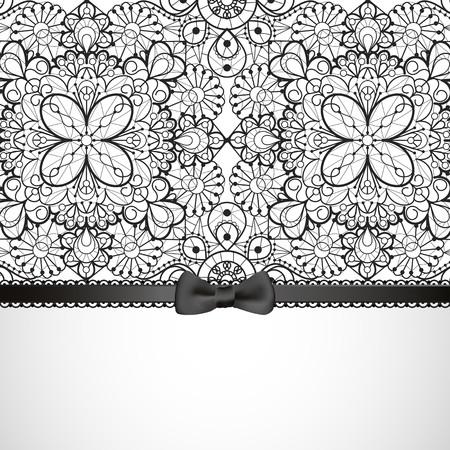 black satin: Lace background