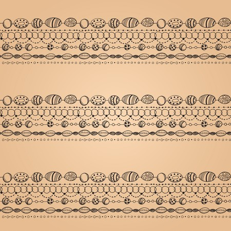 bead embroidery: Seamless pattern with lacy design Illustration
