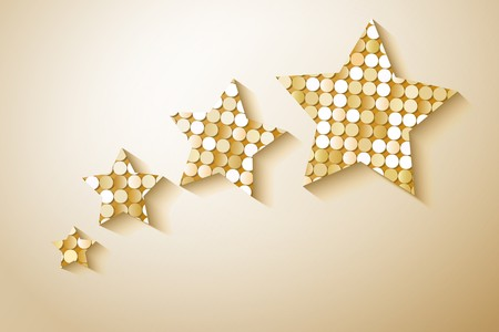 paillette: Shiny sequins stars. Eps 10 vector illustration
