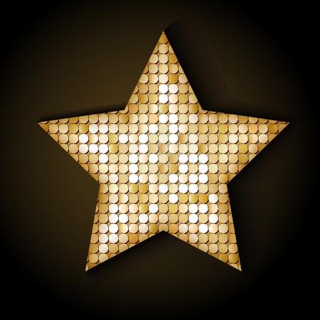 paillette: Shiny sequins star. Eps 10 vector illustration