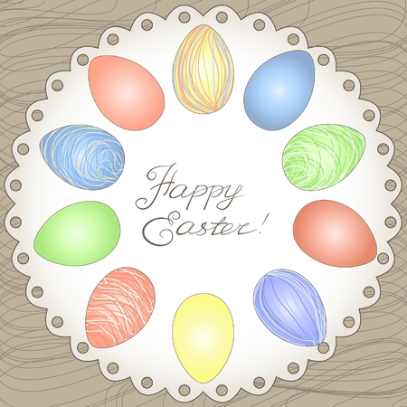 Happy easter card, vector illustration Vector