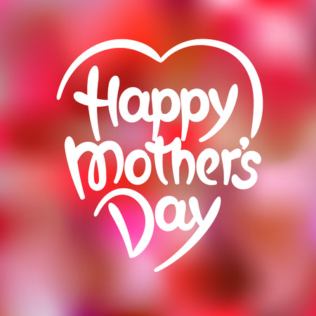 mother's day: Happy mothers day hand-drawn lettering. Eps 8 vector illustration Illustration