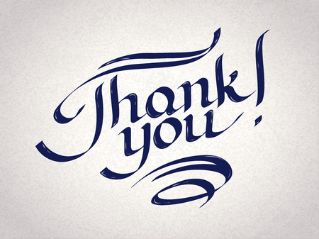 Thank you hand-drawn lettering.