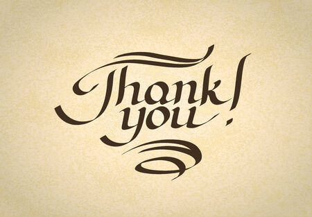 Thank you hand-drawn lettering. Eps10 vector illustration Vector