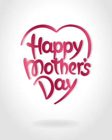 Happy mothers day hand-drawn lettering. Vector