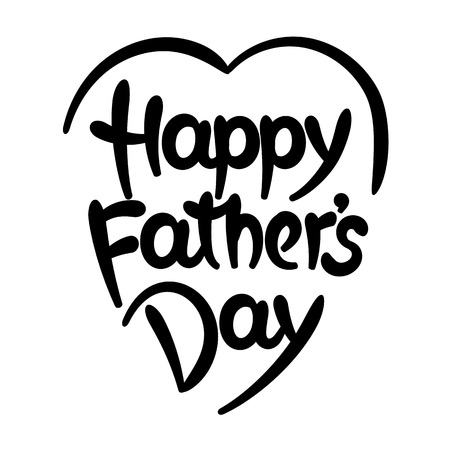 Happy fathers day hand-drawn lettering. Eps 8 vector illustration