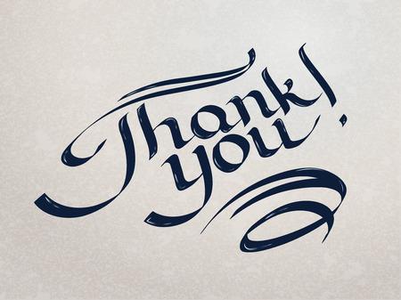 Thank you hand-drawn lettering. Eps 10 vector illustraiton Vector
