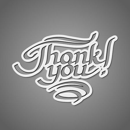 Thank you hand-drawn lettering Vector