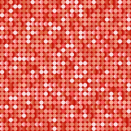 Seamless background with shiny red paillettes. Eps8 vector. Vector