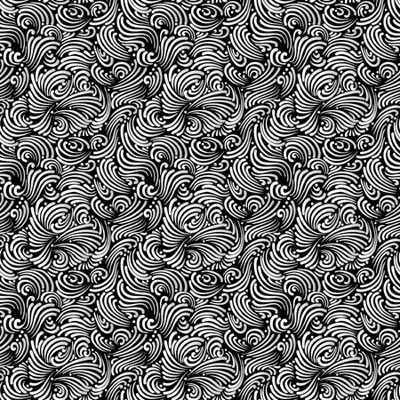 Abstract black and white background, seamless pattern Illusztráció