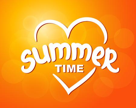 Summer time - typographic design