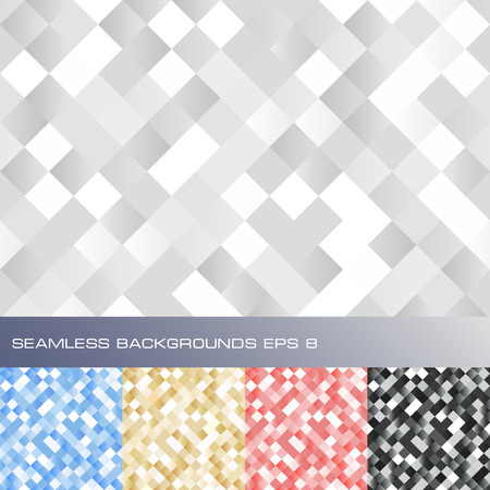 paillette: Set of seamless abstract sparkling backgrounds  Vector illustration