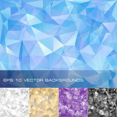 adamant: Set of geometric patterns  Triangles polygonal backgrounds  Eps10 vector illustration Illustration