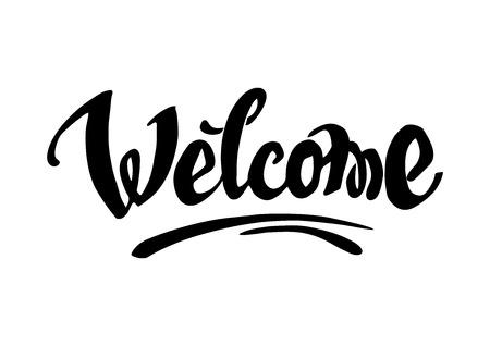 Welcome hand drawn lettering for your design Illusztráció