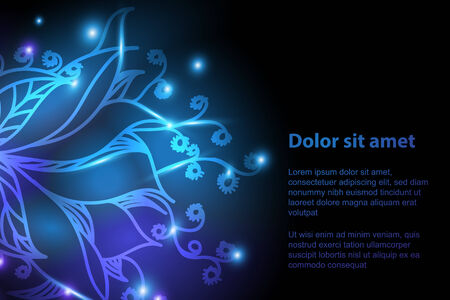 firefly: Shiny floral background for your design. Can be used for banners, business cards, presentations.