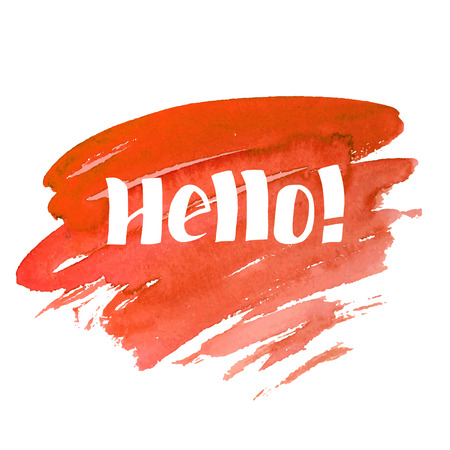 Hello - hand drawn lettering. Иллюстрация